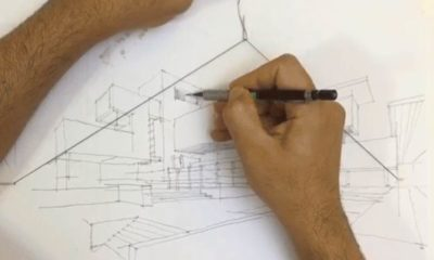 two point perspective pencil sketch
