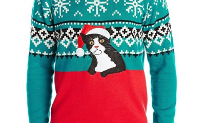 holiday sweaters cat
